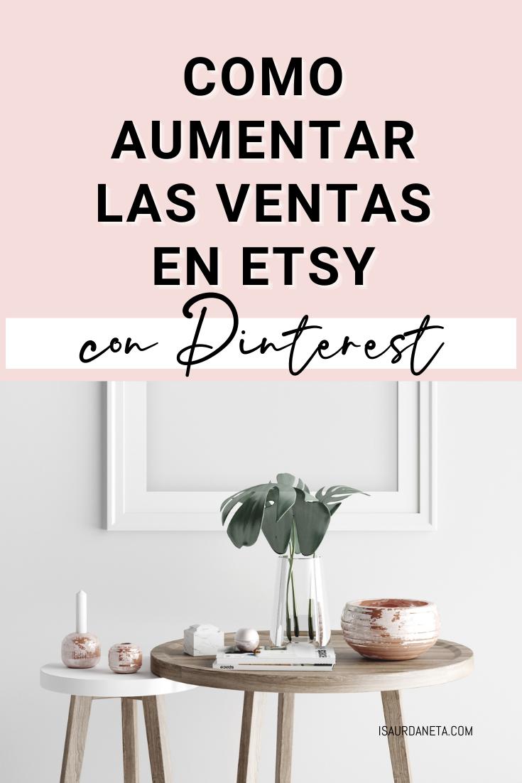 Ventas en Etsy con Pinterest Marketing